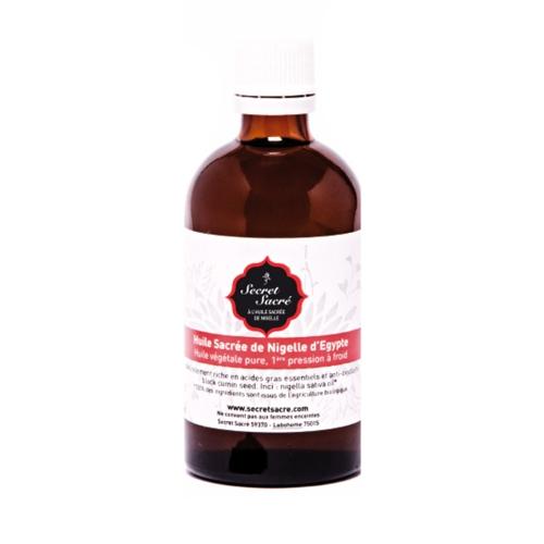 Bienfaits de l'huile de nigelle bio de Secret Sacré - pranaloé - eshop cosmétiques bio