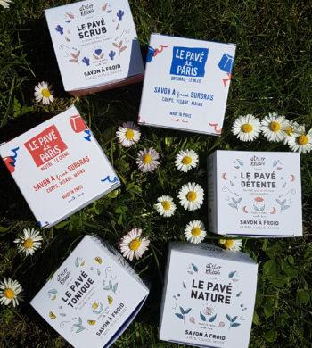 les différents modèles de savon à froid bio d'Atelier populaire Cosmétique bio Paris - pranaloé