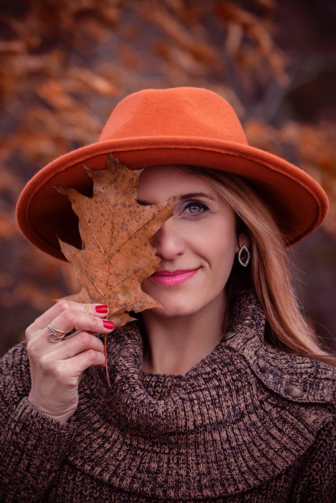 peau de pêche en automne