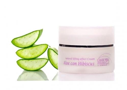 crème anti âge gel d'aloe vera et hibiscus
