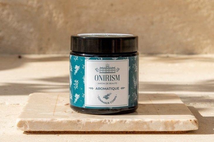 Gommage corps bio aromatique beurre de karité et romarin Onirism - Pranaloé - cosmétiques bio et naturels fabrication artisanale française