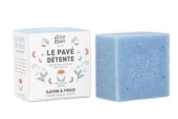 Pavé Détente Atelier populaire - savon saponifié à froid - Pranaloé - boutique en ligne de cosmétiques bio