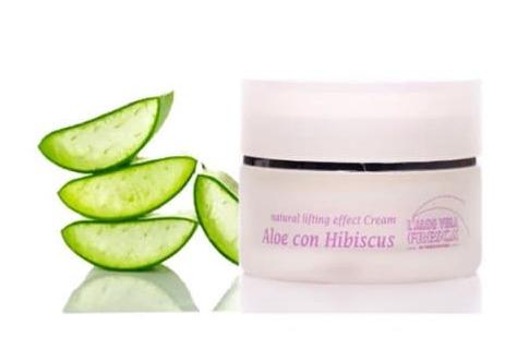 crème antirides hibiscus et aloe vera bio - pranaloe - cosmétiques bio naturels