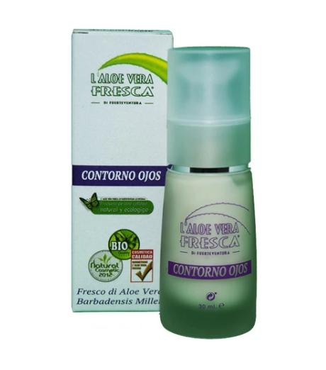 soin contour des yeux aloe vera bio pour poches et cernes - pranaloe - eshop cosmétiques bio naturels